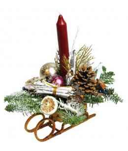 Рождественские Cанки маленькие (C027)