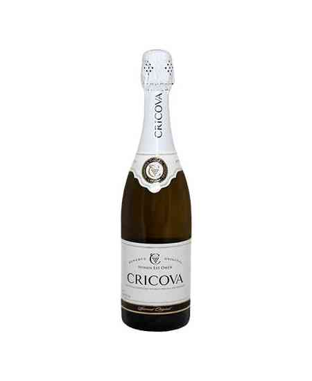 """Șampanie """"CRICOVA"""" Original Alb 0.7l"""