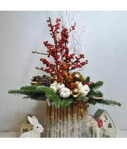"""Праздничная композиция """"Рождественское дерево"""""""