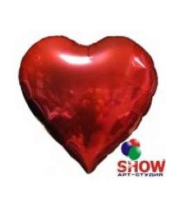 Воздушный шар с гелем красного сердца