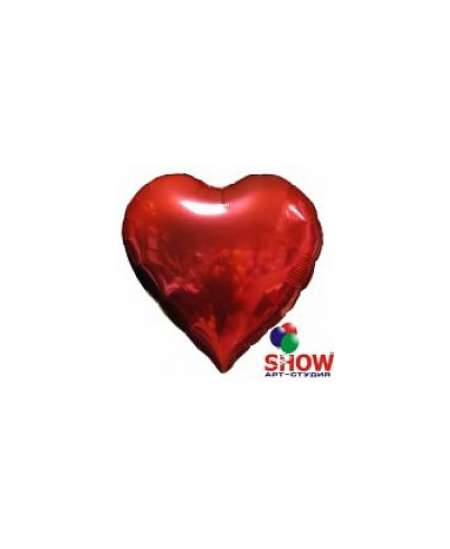 Balloon with red heart helium