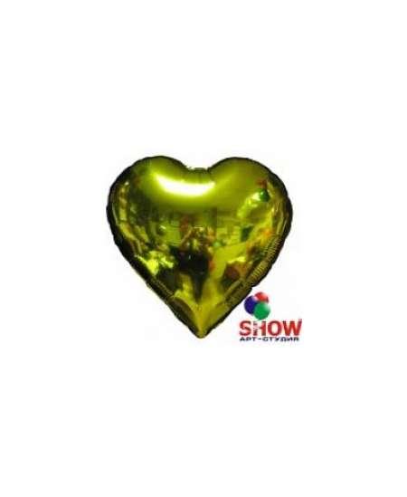 Balon cu heliu inima aurie