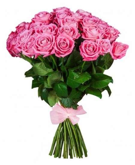 """Розовые розы """"Нидерланды"""" 80-90см"""