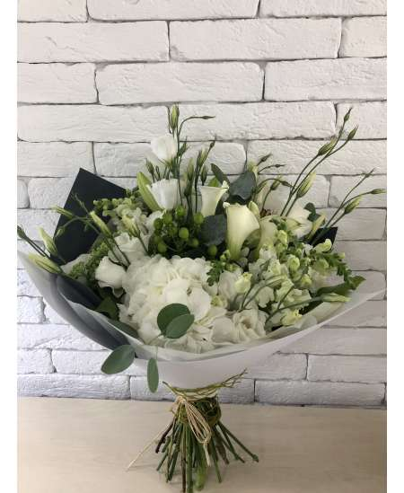 "Buchet ""white sensation"""