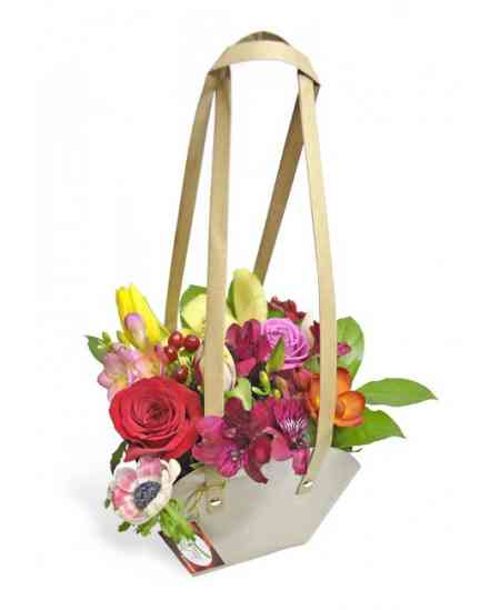 "Basket of flowers ""Mischievous girl"""
