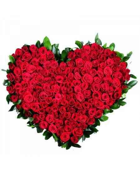 """Букет """"Сердце"""" из 101 розы"""