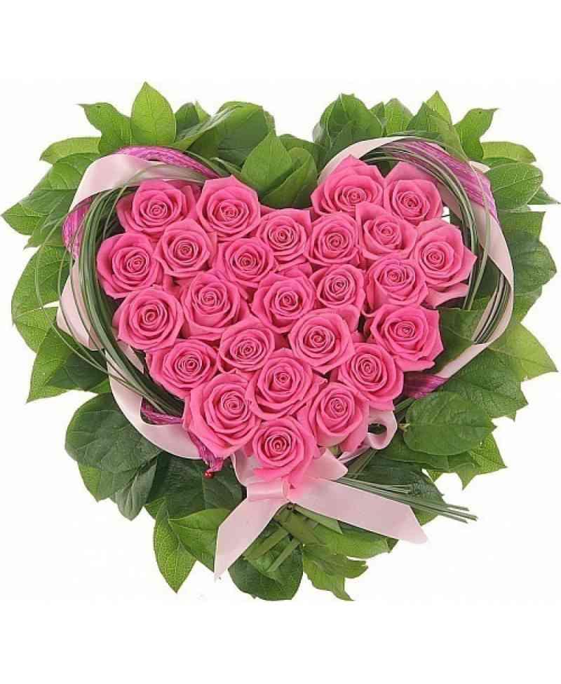 букеты цветов фото в форме сердца должно это