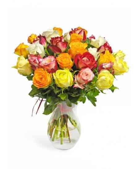 Bouquet of multicolored roses 40-50cm