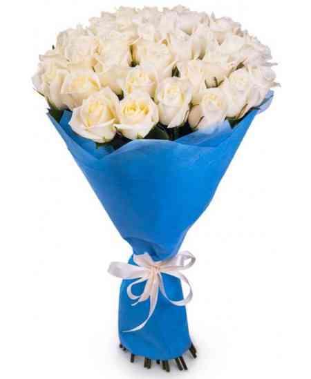 "Белые розы ""Нидерланды"" 60-70см"