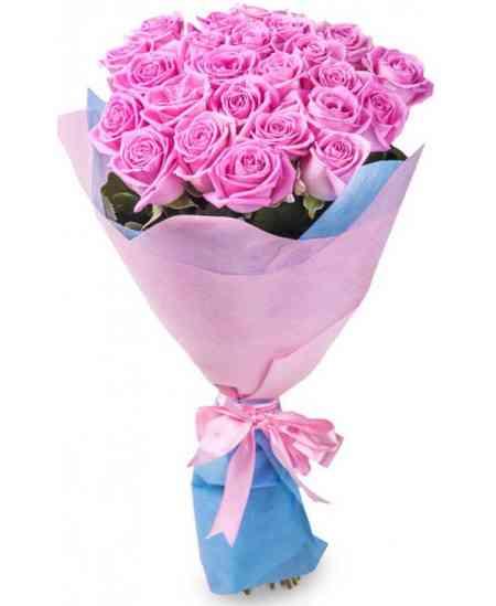"""Розовые розы """"Нидерланды"""" 60-70см"""