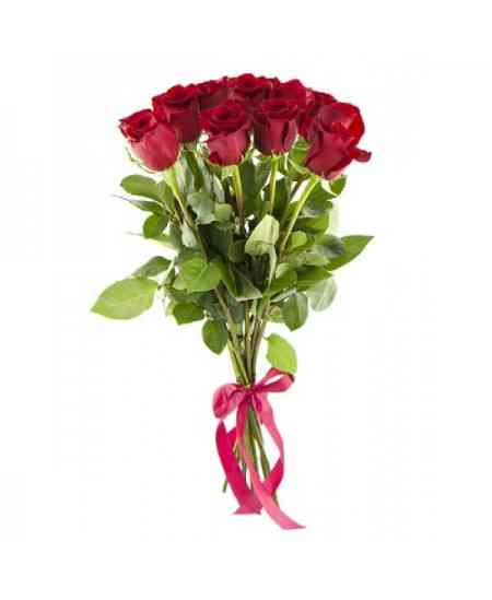 Buchet din 11 trandafiri roșii 60-70cm