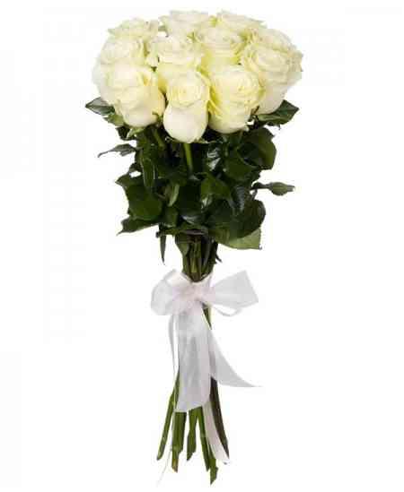 """White roses """"Netherlands"""" 80-90cm"""