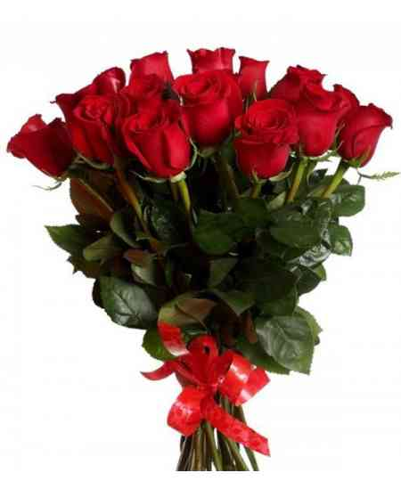 Букет из 15 красных роз 60-70cm