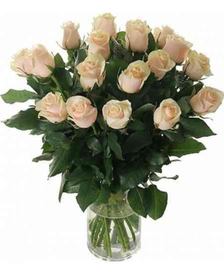 Букет из 19 белых роз 60-70cm