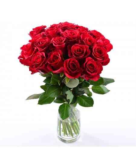 Buchet din 35 trandafiri roșii 60-70cm