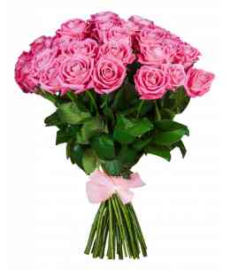 Buchet din 35 trandafiri roz 60-70cm