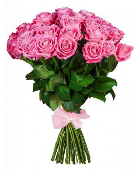 Bouquet of 35 pink roses 60-70cm
