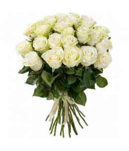 Bouquet of 35 white roses 60-70cm