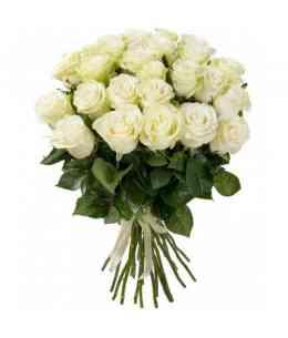 Букет из 35 белых роз 60-70cm