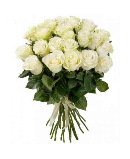 Buchet din 35 trandafiri albi 60-70cm