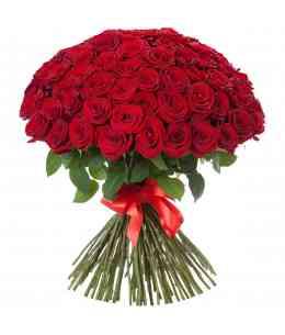 Букет из 101 красных роз 60-70cm