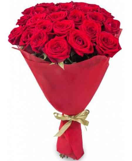 Букет из 21 красных роз 80-90см