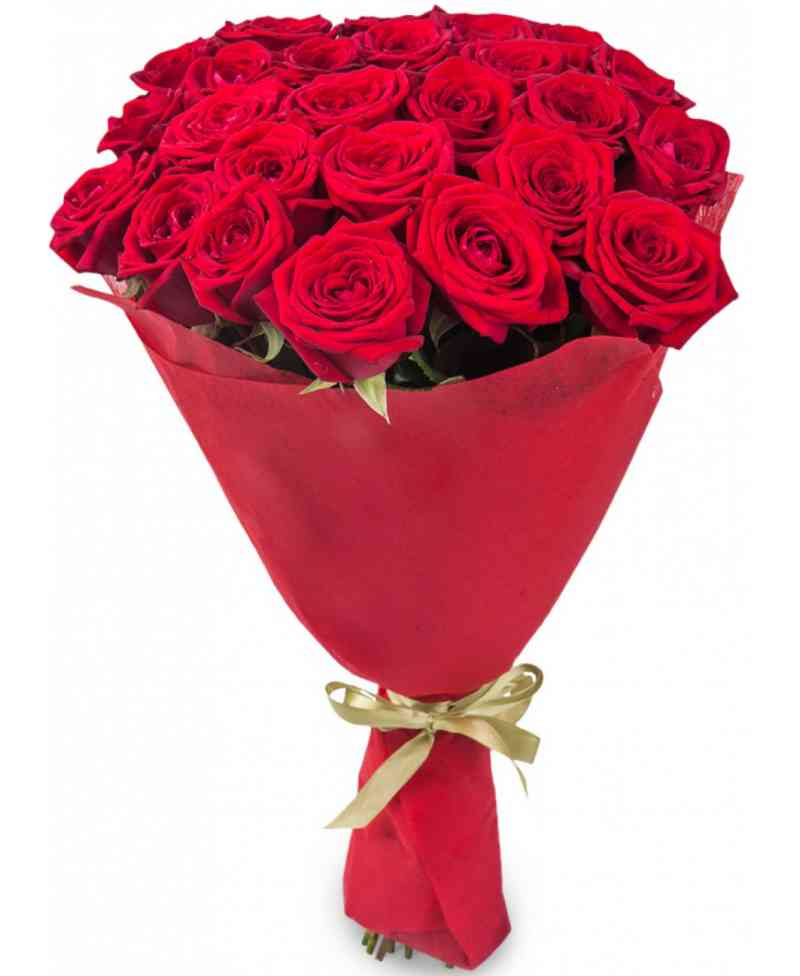 bouquet of 21 red roses 80 90cm. Black Bedroom Furniture Sets. Home Design Ideas