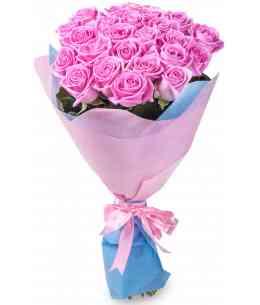 Букет из 21 розовых роз 80-90см