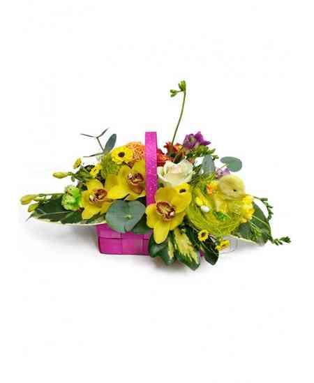 """Coș cu flori """"Easter morning"""""""