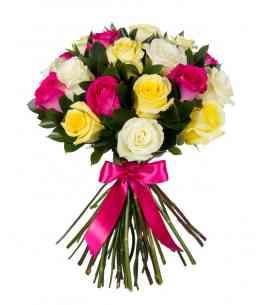"""Разноцветные розы """"Нидерланды"""" 80-90см"""