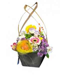 "Basket of flowers ""Easter joy"""