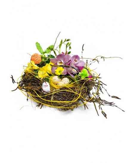 """Composition of flowers """"Quail's Nest"""""""