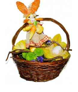 "Basket of flowers ""Easter miracle"""
