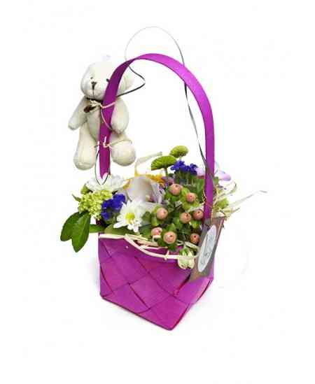 "Basket of flowers ""Schoolgirl"""