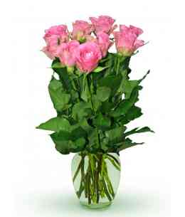"""Розовые розы """"Нидерланды"""" 30-40см"""