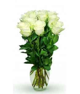 "Белые розы ""Нидерланды"" 30-40см"