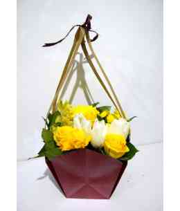 "Basket of flowers ""Yellow spring"""