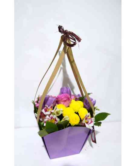 "Basket of flowers ""Pink Love"""