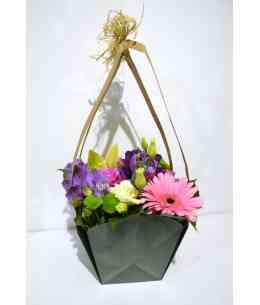 "Basket of flowers ""I Miss ..."""
