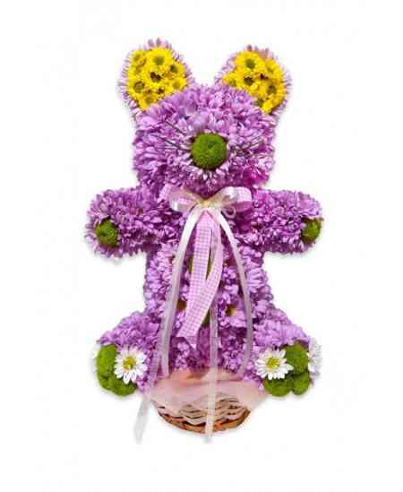 "Urs din flori ""Pink Teddy"""