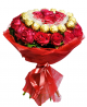 Bouquet of 31 roses and Ferrero Rocher