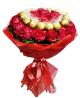 Buchet din 31 trandafiri și Ferrero Rocher
