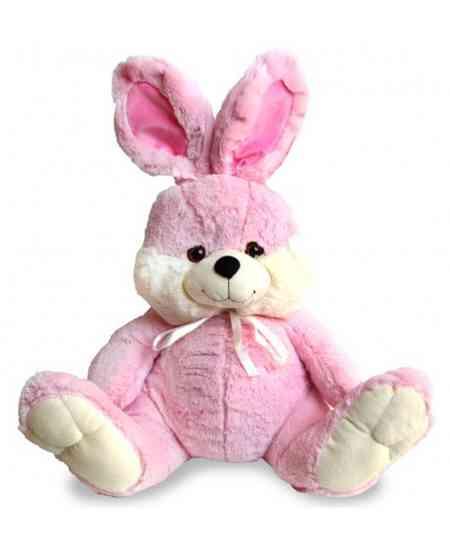 Розовый кролик 45см ↑