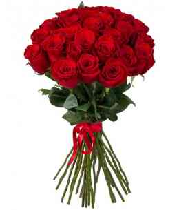 Bouquet of 29 red roses 80-90cm