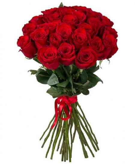 Букет из 29 красных роз 80-90см