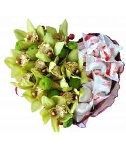 Inimă din Orhidee și Raffaello