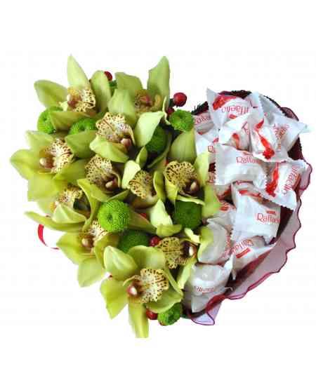 Сердце из Орхидеи и Raffaello