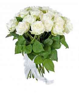 "Bouquet of 21 White roses ""Netherlands"" 40-50cm"