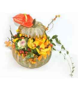 Compoziție florală de Halloween 01