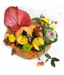Compoziție florală de Halloween 02